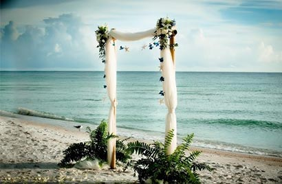 Tulle on Arch by the gulf waters